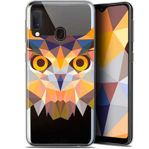 "Carcasa Gel Extra Fina Samsung Galaxy A20E (5.8"") Polygon Animals Búho"