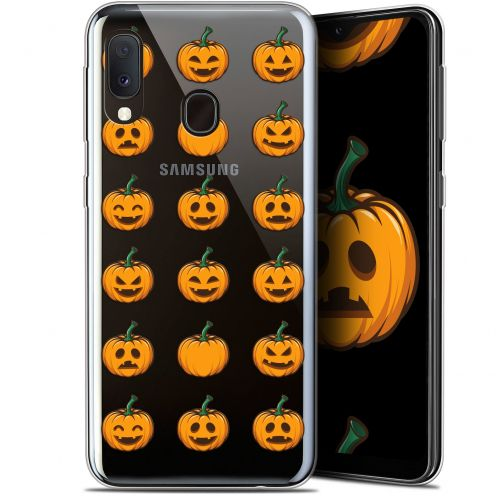 """Carcasa Gel Extra Fina Samsung Galaxy A20E (5.8"""") Halloween Smiley Citrouille"""