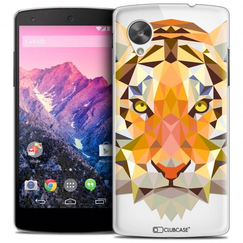 Carcasa Crystal Extra Fina Nexus 5 Polygon Animals Tigre