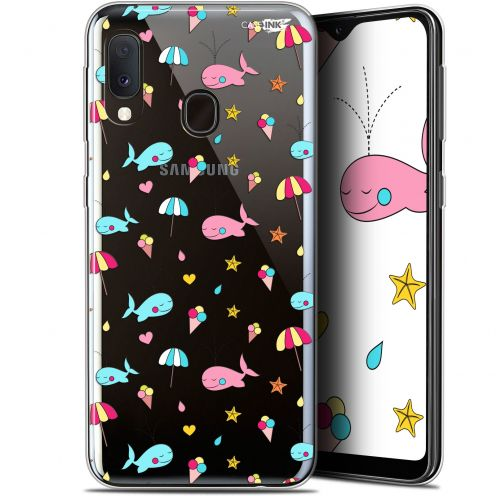 "Carcasa Gel Extra Fina Samsung Galaxy A20E (5.8"") Design Baleine à la Plage"