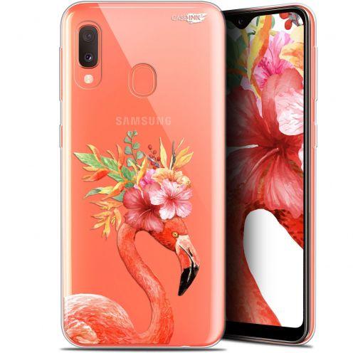 "Carcasa Gel Extra Fina Samsung Galaxy A20E (5.8"") Design Flamant Rose Fleuri"
