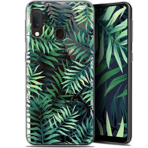 "Carcasa Gel Extra Fina Samsung Galaxy A20E (5.8"") Design Feuilles des Tropiques"