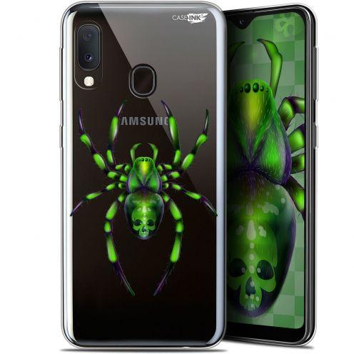 "Carcasa Gel Extra Fina Samsung Galaxy A20E (5.8"") Design Arraignée Verte"