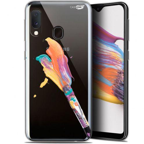 "Carcasa Gel Extra Fina Samsung Galaxy A20E (5.8"") Design Pinceau de Peinture"