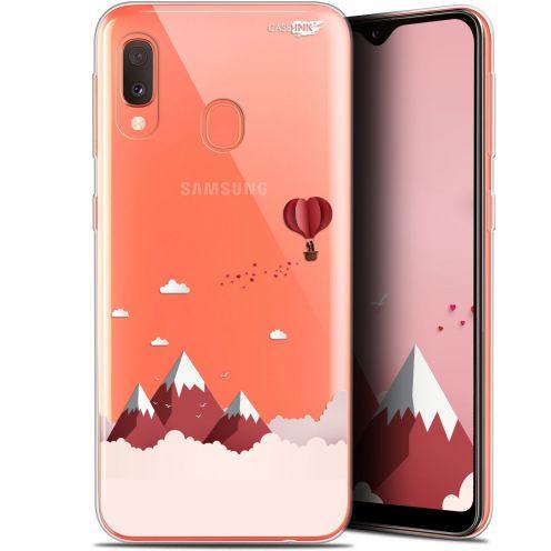 "Carcasa Gel Extra Fina Samsung Galaxy A20E (5.8"") Design Montagne En Montgolfière"