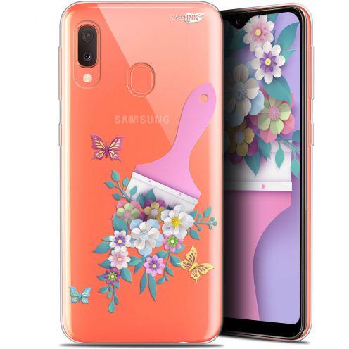 "Carcasa Gel Extra Fina Samsung Galaxy A20E (5.8"") Design Pinceau à Fleurs"