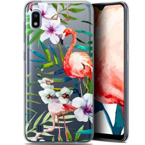 "Carcasa Gel Extra Fina Samsung Galaxy A10 (6.2"") Watercolor Tropical Flamingo"