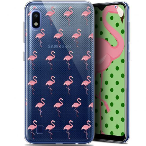 "Carcasa Gel Extra Fina Samsung Galaxy A10 (6.2"") Pattern Les flamants Roses Dots"