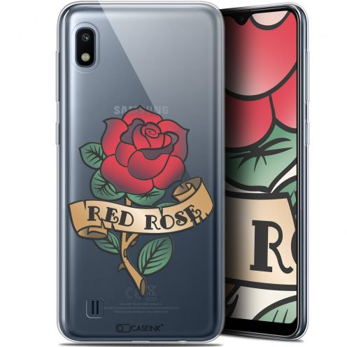 "Carcasa Gel Extra Fina Samsung Galaxy A10 (6.2"") Tatoo Lover Red Rose"