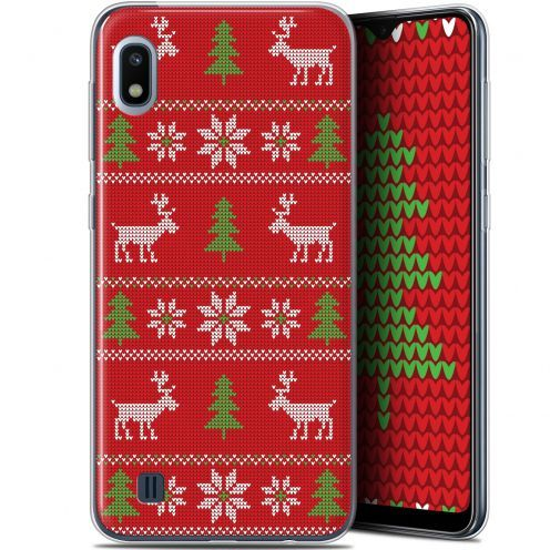 "Carcasa Gel Extra Fina Samsung Galaxy A10 (6.2"") Noël 2017 Couture Rouge"