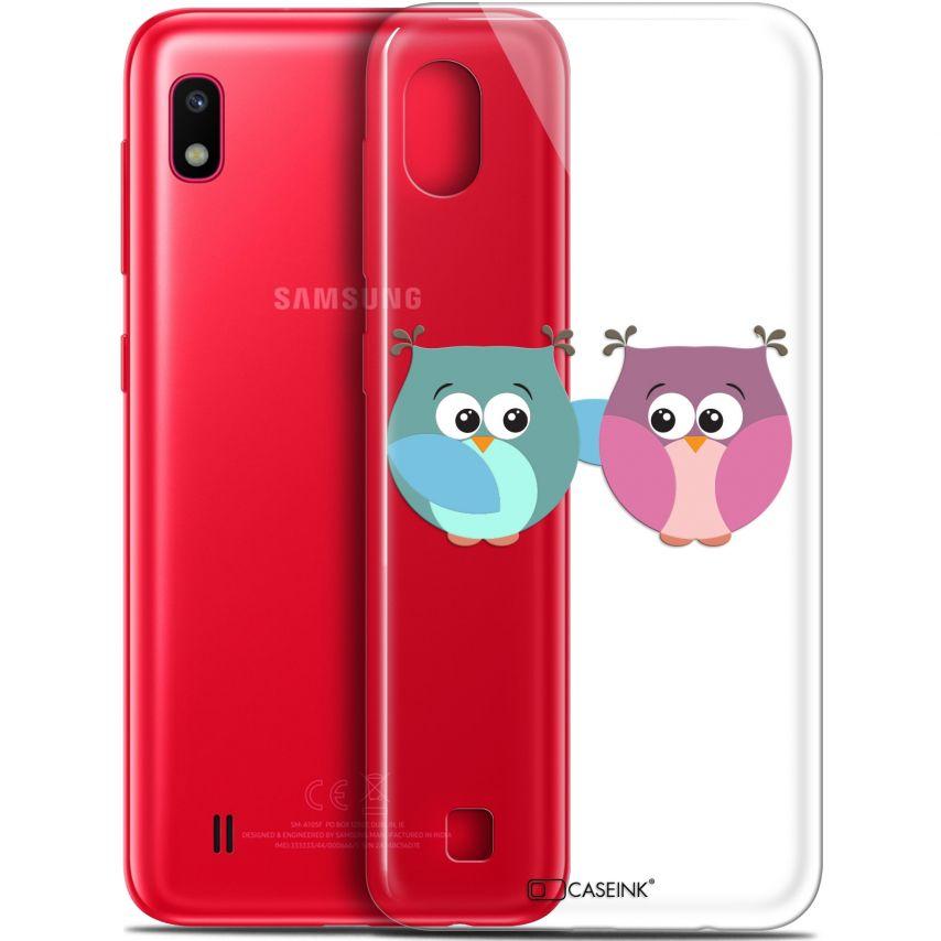 """Carcasa Gel Extra Fina Samsung Galaxy A10 (6.2"""") Love Hibous à deux"""