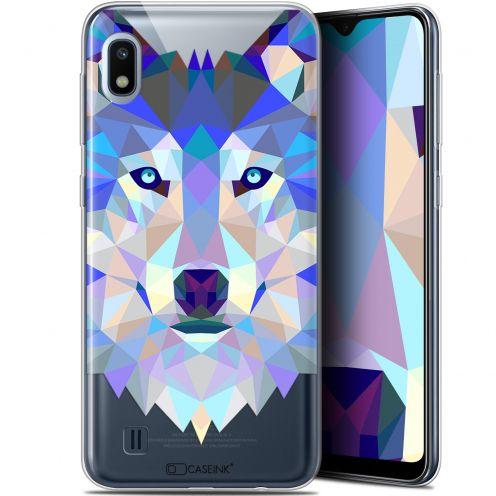 "Carcasa Gel Extra Fina Samsung Galaxy A10 (6.2"") Polygon Animals Lobo"