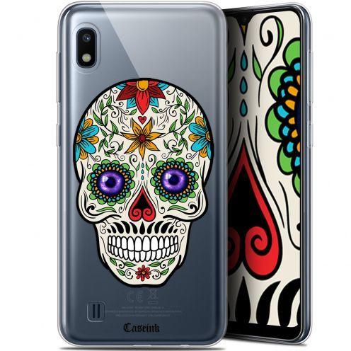 "Carcasa Gel Extra Fina Samsung Galaxy A10 (6.2"") Skull Maria's Flower"