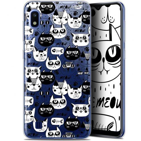 "Carcasa Gel Extra Fina Samsung Galaxy A10 (6.2"") Design Chat Noir Chat Blanc"