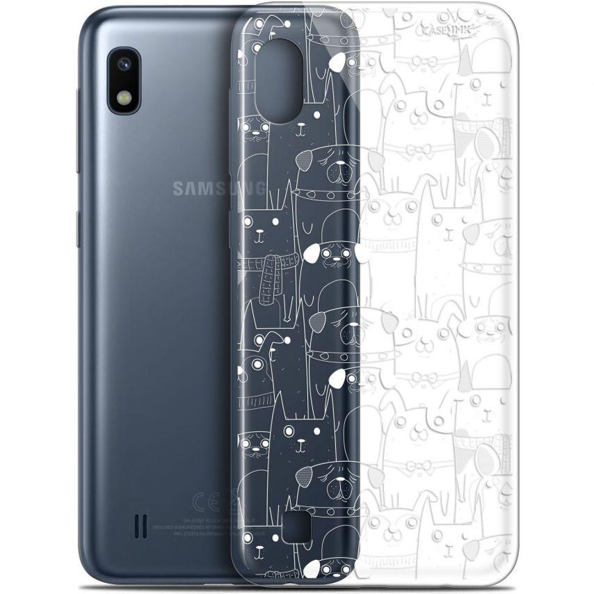 """Carcasa Gel Extra Fina Samsung Galaxy A10 (6.2"""") Design Chien Blanc"""