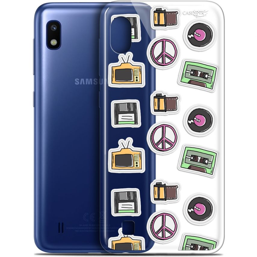 "Carcasa Gel Extra Fina Samsung Galaxy A10 (6.2"") Design Vintage Stickers"