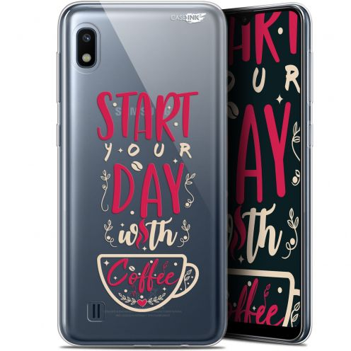"Carcasa Gel Extra Fina Samsung Galaxy A10 (6.2"") Design Start With Coffee"