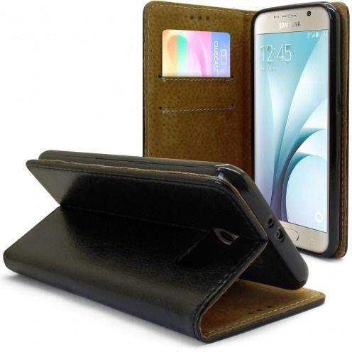Funda Italia Foliopara Samsung Galaxy S6 Cuero AuténticoNegro