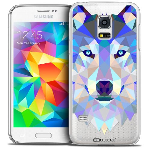 Carcasa Crystal Extra Fina Galaxy S5 Mini Polygon Animals Lobo