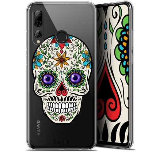 "Carcasa Gel Extra Fina Huawei P Smart+ / Plus 2019 (6.2"") Skull Maria's Flower"