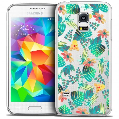 Carcasa Crystal Extra Fina Galaxy S5 Mini Spring Tropical