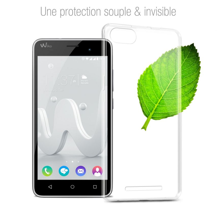 Carcasa Extra Fina 1 mm Flexible Crystal Clear para Wiko Jerry