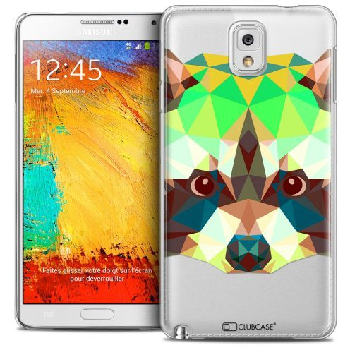 Carcasa Crystal Extra Fina Galaxy Note 3 Polygon Animals Mapache