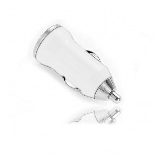 Mini cargador de coche / cigarrillo encendedor USB blanco