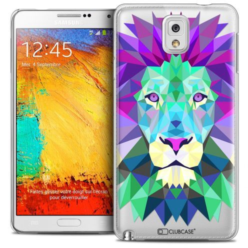 Carcasa Crystal Extra Fina Galaxy Note 3 Polygon Animals León