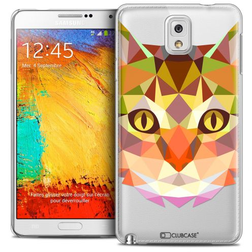 Carcasa Crystal Extra Fina Galaxy Note 3 Polygon Animals Gato