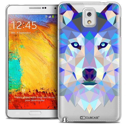 Carcasa Crystal Extra Fina Galaxy Note 3 Polygon Animals Lobo
