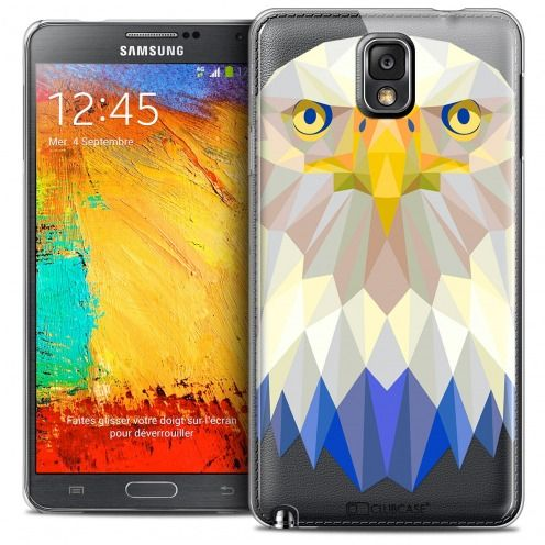 Carcasa Crystal Extra Fina Galaxy Note 3 Polygon Animals Águila