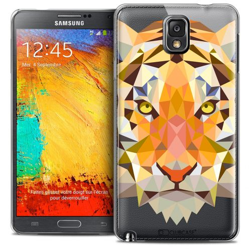Carcasa Crystal Extra Fina Galaxy Note 3 Polygon Animals Tigre