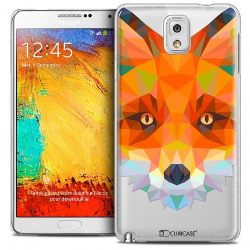 Carcasa Crystal Extra Fina Galaxy Note 3 Polygon Animals Zorro