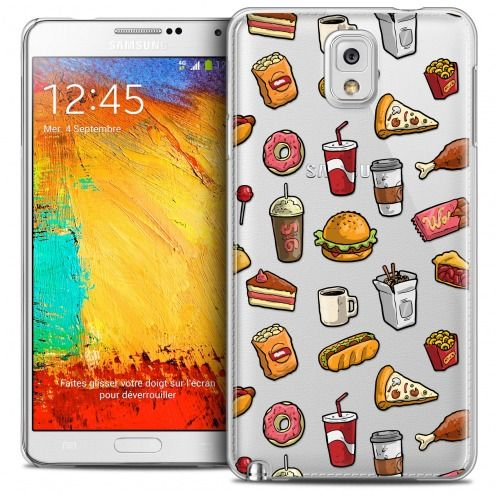Carcasa Crystal Extra Fina Galaxy Note 3 Foodie Fast Food