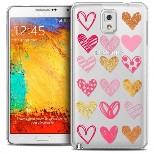Carcasa Crystal Extra Fina Galaxy Note 3 Sweetie Doodling Hearts