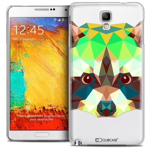 Carcasa Crystal Extra Fina Galaxy Note 3 Neo/Mini Polygon Animals Mapache