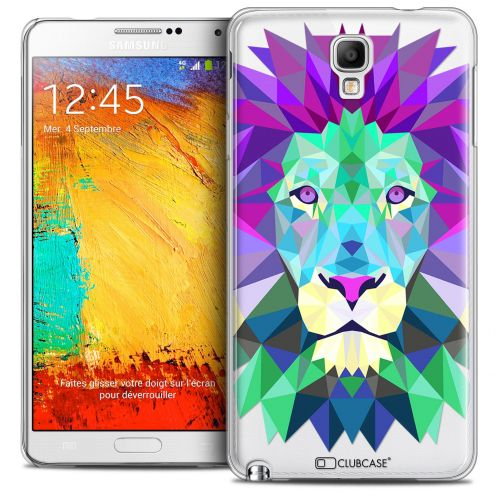 Carcasa Crystal Extra Fina Galaxy Note 3 Neo/Mini Polygon Animals León