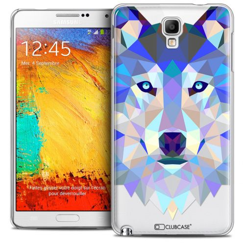 Carcasa Crystal Extra Fina Galaxy Note 3 Neo/Mini Polygon Animals Lobo
