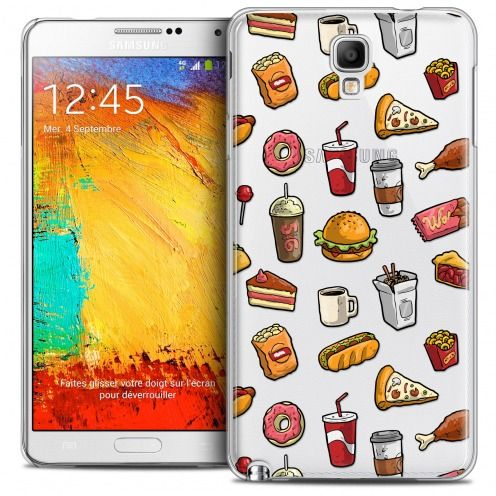 Carcasa Crystal Extra Fina Galaxy Note 3 Neo/Mini Foodie Fast Food