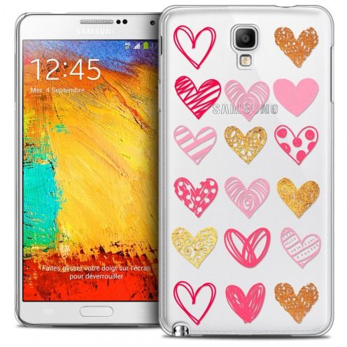 Carcasa Crystal Extra Fina Galaxy Note 3 Neo/Mini Sweetie Doodling Hearts