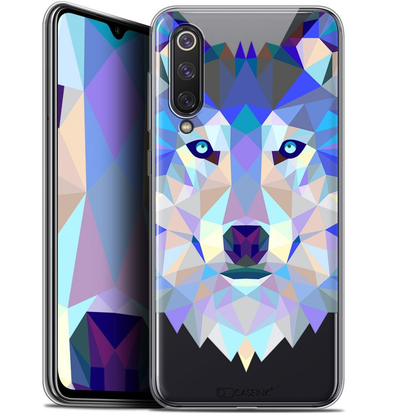 "Carcasa Gel Extra Fina Xiaomi Mi 9 SE (5.97"") Polygon Animals Lobo"