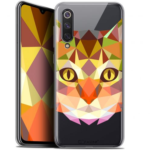 "Carcasa Gel Extra Fina Xiaomi Mi 9 SE (5.97"") Polygon Animals Gato"