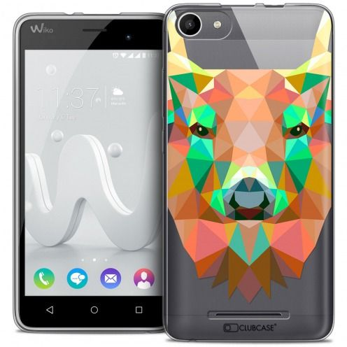 Carcasa Crystal Gel Extra Fina Wiko Jerry Polygon Animals Ciervo