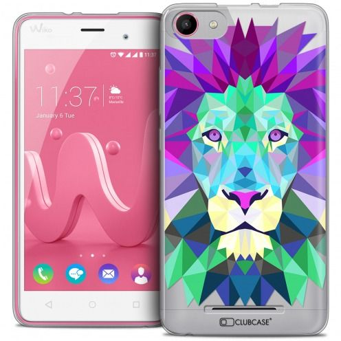 Carcasa Crystal Gel Extra Fina Wiko Jerry Polygon Animals León