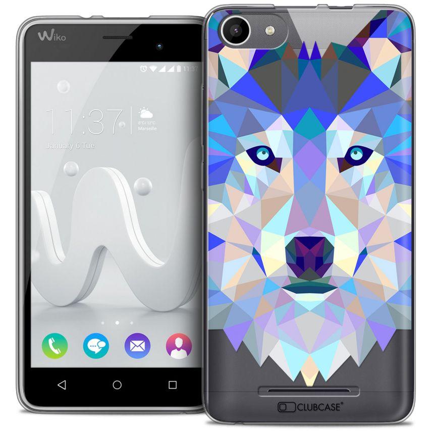Carcasa Crystal Gel Extra Fina Wiko Jerry Polygon Animals Lobo