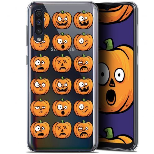 "Carcasa Gel Extra Fina Samsung Galaxy A50 (6.4"") Halloween Cartoon Citrouille"