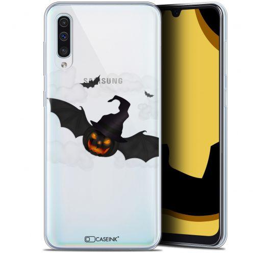 "Carcasa Gel Extra Fina Samsung Galaxy A50 (6.4"") Halloween Chauve Citrouille"