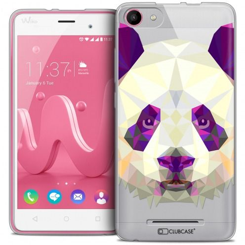 Carcasa Crystal Gel Extra Fina Wiko Jerry Polygon Animals Panda