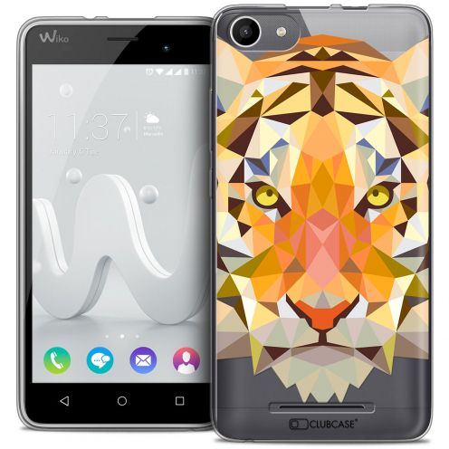 Carcasa Crystal Gel Extra Fina Wiko Jerry Polygon Animals Tigre